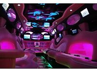 PINK H2 HUMMER LIMO FOR HIRE   16 PASSENGERS   PROMS   HEN NIGHTS   WEDDINGS   BIRTHDAYS