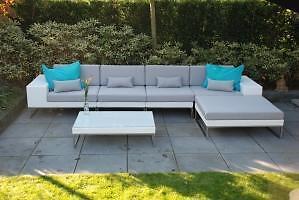 ≥ loungeset design wit wicker solden aanbieding tuin bank set