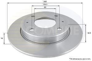 Brake Disc Comline ADC0372 Fits Rear