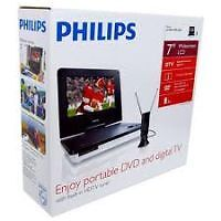 Philips PET729/37 Portable DVD Player and Digital TV w/ Built-In HDTV Tuner