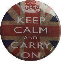 KEEP CALM AND CARRY ON UNION JACK 25mm 1