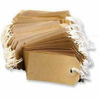 50 x Quality Strung Tags Reinforced Rings Luggage Labels String Tie On Gift