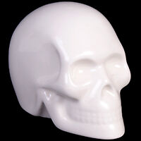 White ceramic SKULL ornament 6 cm tall