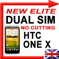 Dual Sim Card Adapter for HTC One x Elite Micro Sim No Cut 3G UMTS UK