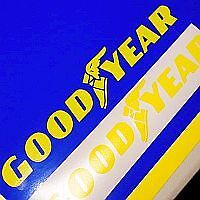 Goodyear Yellow Decals Set Of 2 Racing Decal Sticker Good Year F1 Logo Tires
