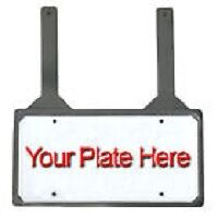 Rubber License Plate Holder - close the trunk lid on straps