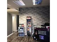 established Business over 10 years, 3 sunbeds with 1500 clientelle, 3 other separate rooms.