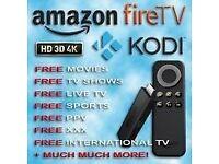 Fire Tv Stick-latest kodi (16.1 Jarvis) fully loaded Movies,Sports,Tv Shows & kids tv & XXX