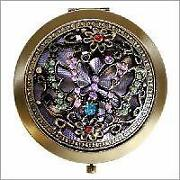 Jewelled Compact Mirror