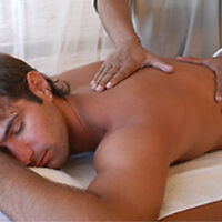 Male RMT offers massage therapy treatment.