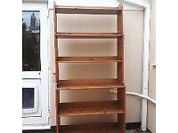 solid Oak effect bookcase
