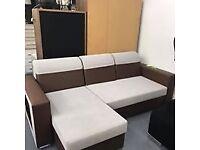 BRAND NEW CORNER SOFA BEDS WITH STORAGE!!
