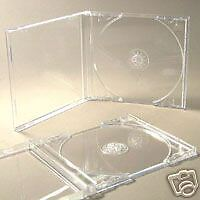 25 CD JEWEL CASES COMPLETE WITH CLEAR TRAYS + FREE DEL
