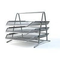 3-Tier-Silver-Metal-Wire-Mesh-Document-Tray-Organizer-Filing-home-Office-Work