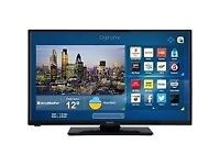 SMART 32 INCH SLIM LED FULL HD TV IN MINT CONDITON WITH WIFI BUILT IN AND FREEVIEW