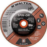 "DISQUE A GRINDER 4 1/2 Walter 4""-1/2 08-B-450"