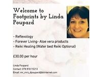 Footprints Reflexology and /or Reiki Therapy in the comfort of your own home or mine.