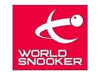 World Snooker Championship tickets 21/4/18 OPENING DAY