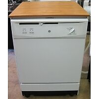 GE GSC3500D35WW Portable Dishwasher in White w 2 Place Setti