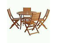 Homebase hardwood teak garden table and chairs