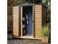 Brand new in unopened box 8 x 6 woodvale metal shed