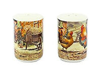 COCKEREL & HEN salt & pepper pots