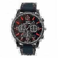 mens watch gt for grand touring it has black soft strap