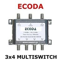 MULTISWITCH ECODA  TO CONNECT  4 FTA RECEIVERS, FOR SALE
