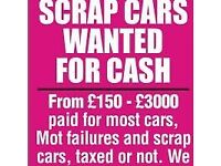 SCRAP CARS CHEAP CARS ALL WANTED