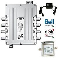 BRAND NEW Videopath SW-44 (SW44) Multi-Dish Switch with Power In