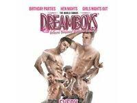 ticket for The Dreamboys Show with Cocktail, Buffet and Night club entry !!!!!