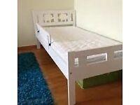 Ikea kids KRITTER bed frame and VYSSA mattress with extras