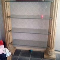 6ft pillow shelving unit with 4 glass shelves