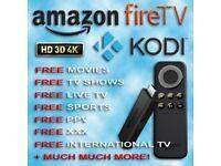 Amazon Fire Stick Kodi 16.1 Sports✔️Movies✔️TV✔️✔️Adult ( INSTALLATION SERVICE)