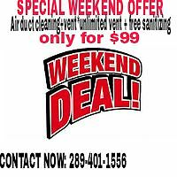 SPECIAL OFFER ! AIR DUCT CLEANING+VENT *UNLIMITED VENTS ONLY $99