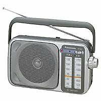 RF-2400D AM / FM Radio, Silver, New - $46.04