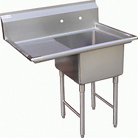 1 Compartment Sink With 1 Left 18 Drain Board Nsf