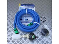 Hose and parts to enable you to automatically fill your aqua roll directly from a nearby tap