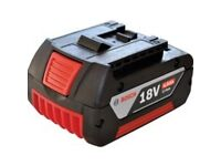 bosch 18 volt Li-ion 4.0 Ah new never used battery fits all bosch 18v lithium-ion tools £45 ono