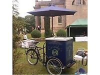 CASSIDYS EVENT CATERING WEDDINGS ICE CREAM BIKE & CART CATERING ROLLOVER HOTDOG CART HOG ROAST /BARS