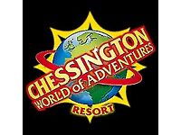 2 CHESSINGTON WORLD OF ADVENTURES TICKETS FOR SUNDAY 27TH MAY 2018, BANK HOLIDAY WEEKEND