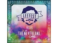 Leefest Ticket - Full weekend camping - £65. WITH £10 CASH BACK