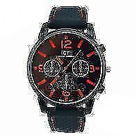 watch mens gt soft black leather strap new in box