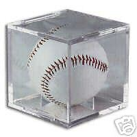 24-BASEBALL-CUBES-DISPLAY-HOLDER-w-CRADLE-with-UV
