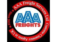 AAA Freight Services Ltd - Cheapest 24/7 Customs Clearance Agents & Freight Forwarding-Import/Export