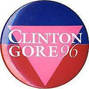Clinton Gore Button