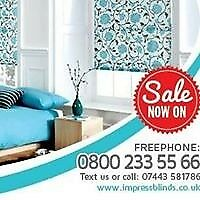 3 Roller blinds for £119 with selection of multiple colors , quote on Free Call 08002335566