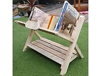 hand made letter/book rack