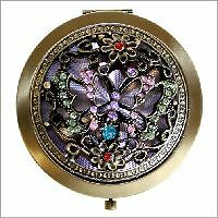 BEAUTIFUL-VINTAGE-STYLE-JEWELLED-MIRROR-COMPACT-HANDBAG-MIRROR-GIFT-BOXED