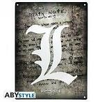 [Merchandise] ABYstyle Death Note Metal Plate L Symbol NIEUW